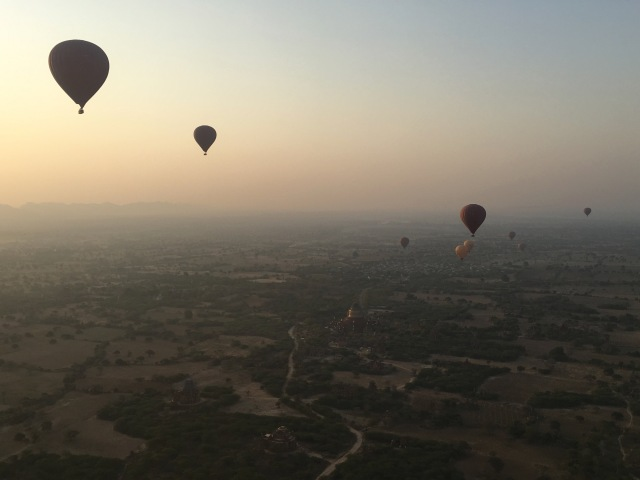 Hot-air balloon ride over Bagan's ancient temples